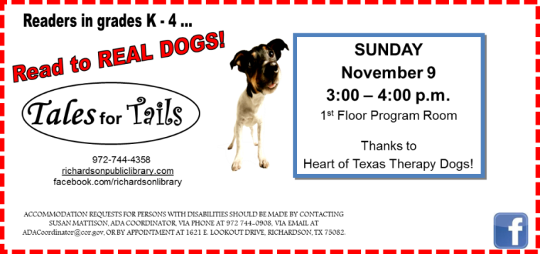 tales for tails november 9