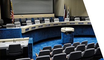 photo of the Richardson City Council Chamber