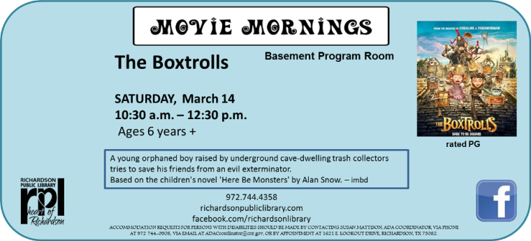 Movie Mornings March 2015