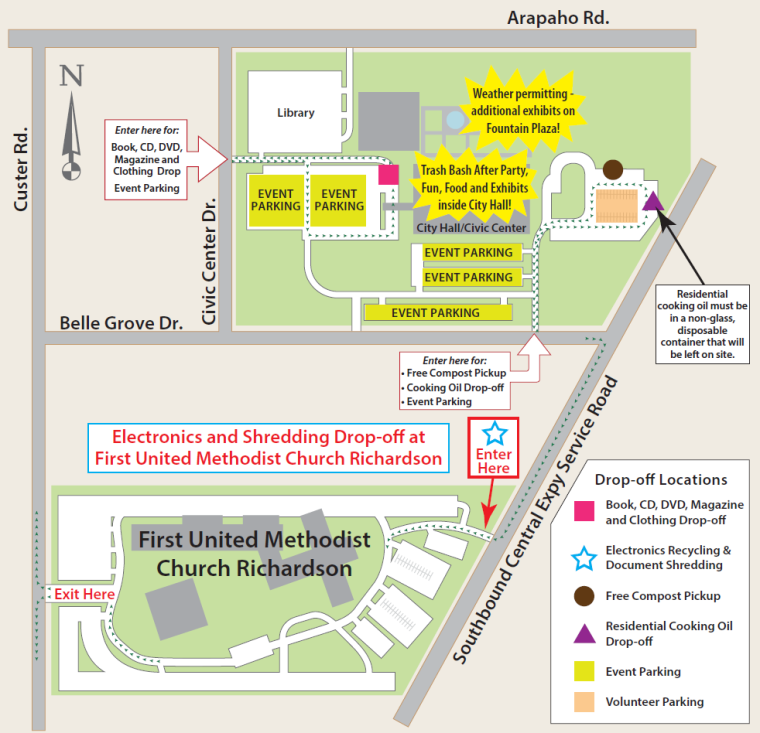 2015 Trash Bash Map