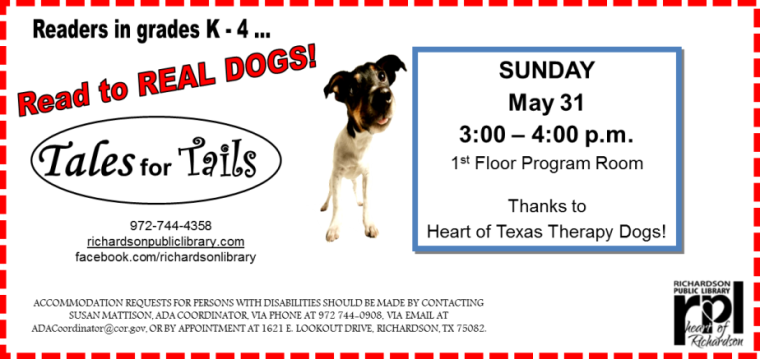Tales For Tails May 2015