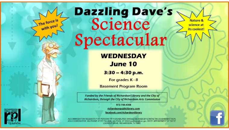 Dazzling Dave's 2015 Science Spectacular