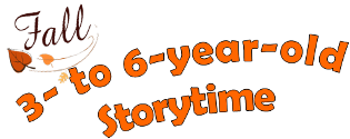 Fall Storytime 2015