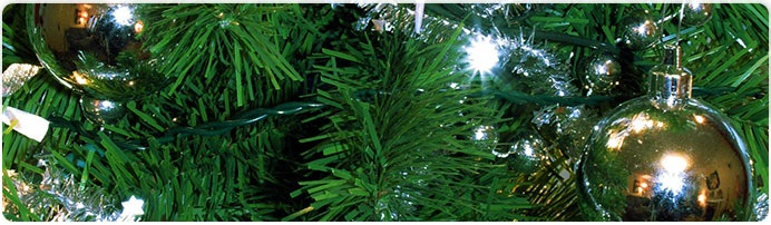 image of christmas tree ornaments