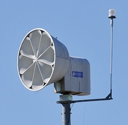 Outdoor Warning Siren with Strobe Light