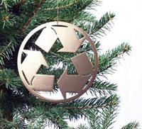 picture of christmas tree with recycling symbol