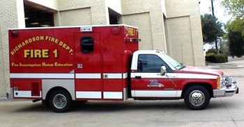 Photo of Fire 1 Investigation Rehab and Education vehicle