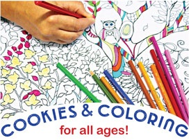 Cookies and Coloring at Library