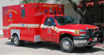 Photo of a Mobile Intensive Care Unit