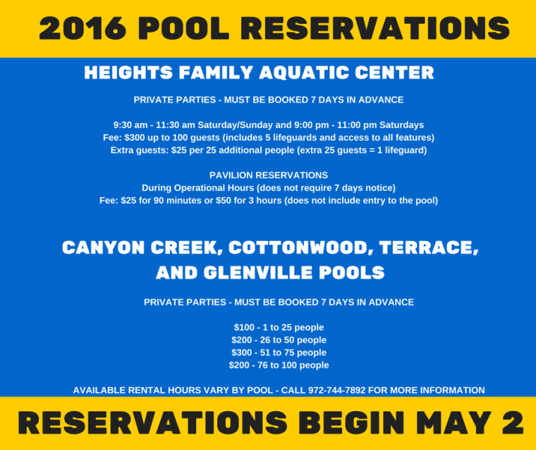 Pool Reservations