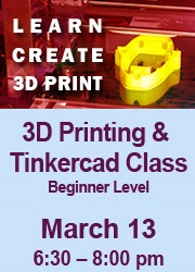 3D Printing & Tinkercad 3-13-17