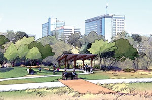 Render of Fox Creek Park Pavilion