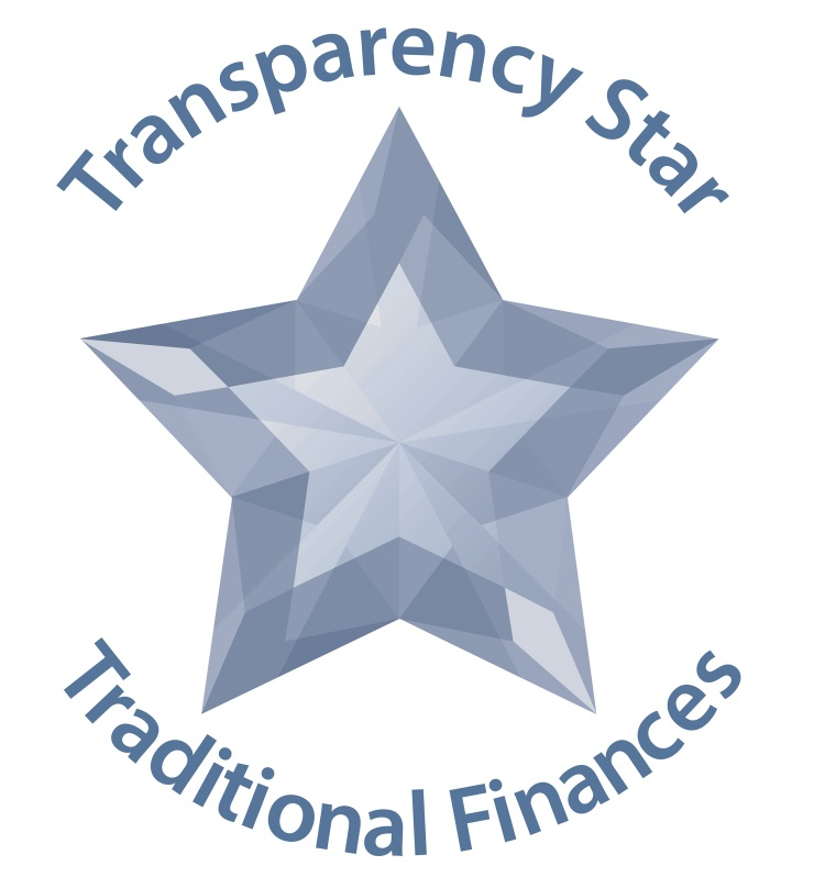 Traditional Finance Transparency Star Logo