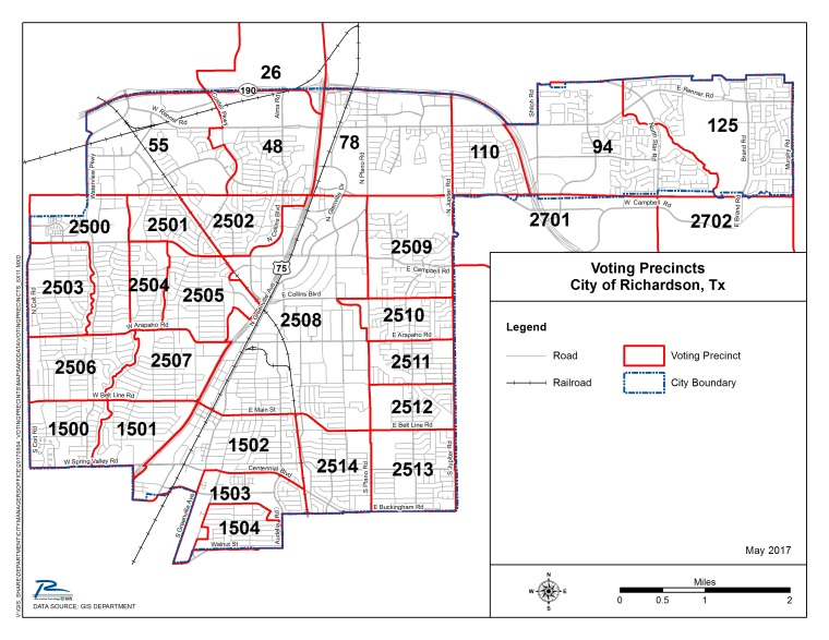 Richardson Voting Precinct Map