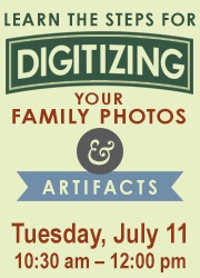 Digitizing Family Photos graphic