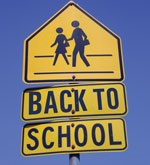 Back to School Street Sign