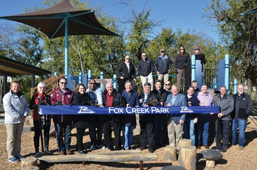 Fox Creek Park Ribbon Cutting