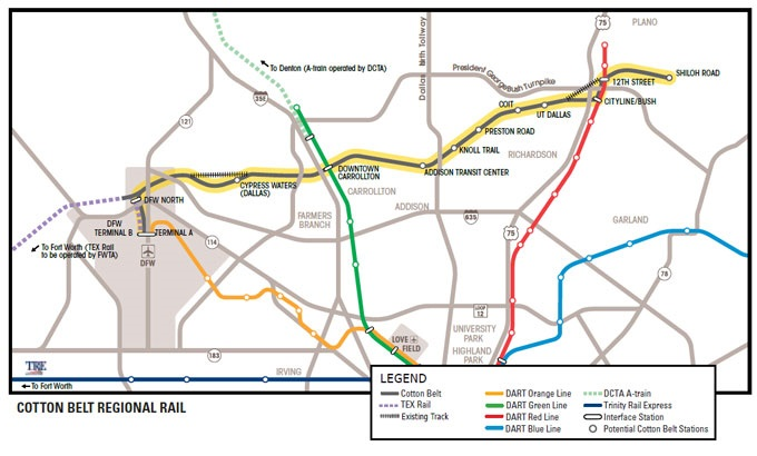Cotton Belt Regional Rail Line