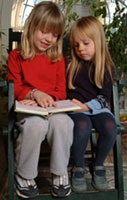 image of children reading