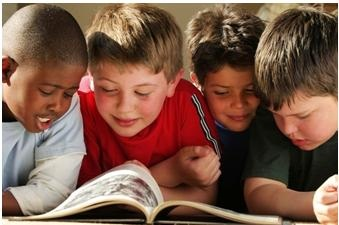 image of boys reading