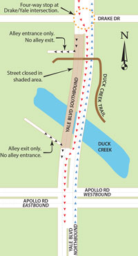 Yale-Bridge--Detour-Map