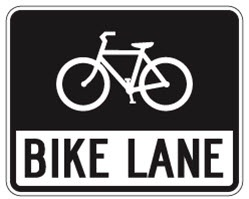 example of Bicycle Lane sign