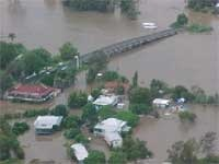 Photo of flooded houses