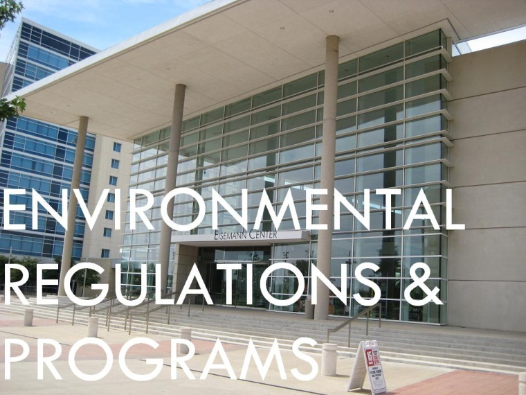 Environmental Regulations & Programs