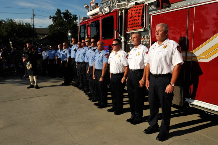 Fire Station 4 - Flag Raising Ceremony