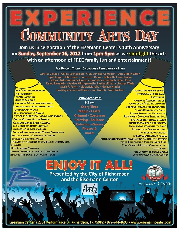 Community Arts Day Flyer