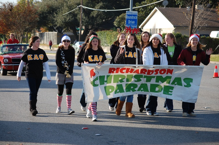 Christmas Parade 2011 Banner Carriers