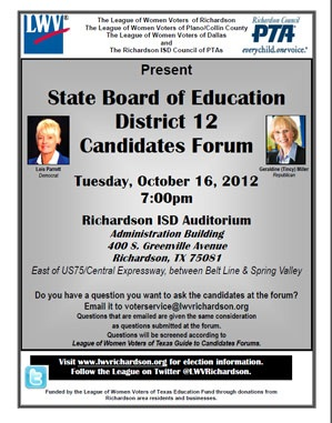 District 12 Candidates Forum