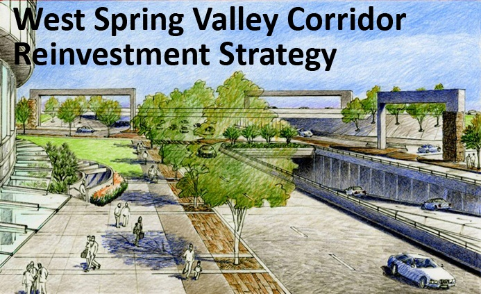 West Spring Valley Corridor Banner -- Gateway Rendering
