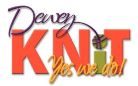 Dewey Knit knitting club logo