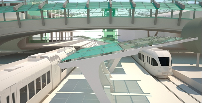 UTD Cotton Belt Rendering