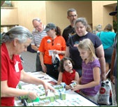 Picture of children receiving free promotional items