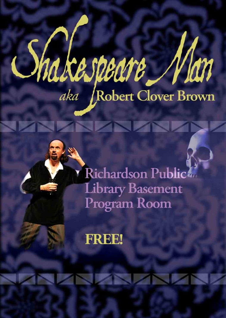 Shakespeare Man Robert Clover Brown