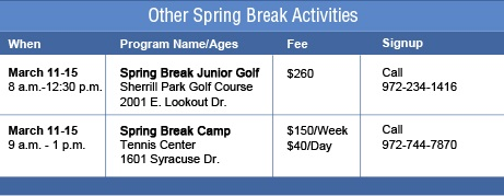 Tennis and Golf Camps