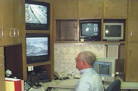 Photo of old traffic control center