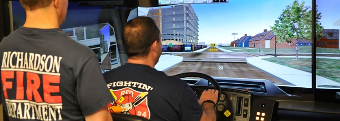 Richardson Fire Department Driving Simulator