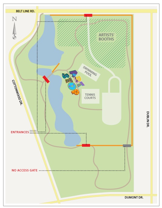 Cottonwood Art Festival Entrance Map