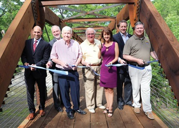 Breckinridge Bridge Ribbon Cutting