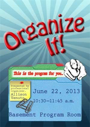 organize it program june 2013
