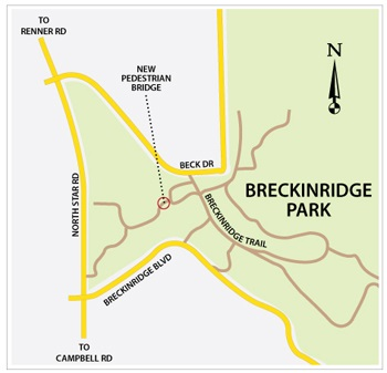 Breckinridge Bridge map
