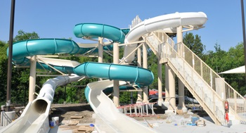 Heights Family Aquatic Center slides
