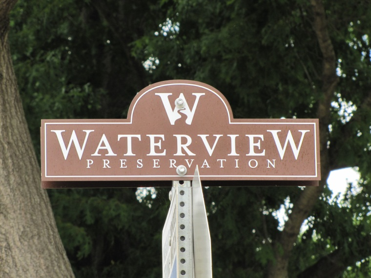 Sign Topper Waterview Preservation