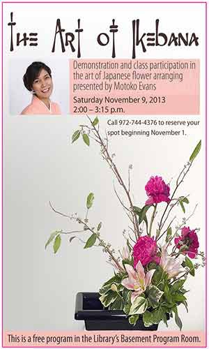 japanese flower arranging program information