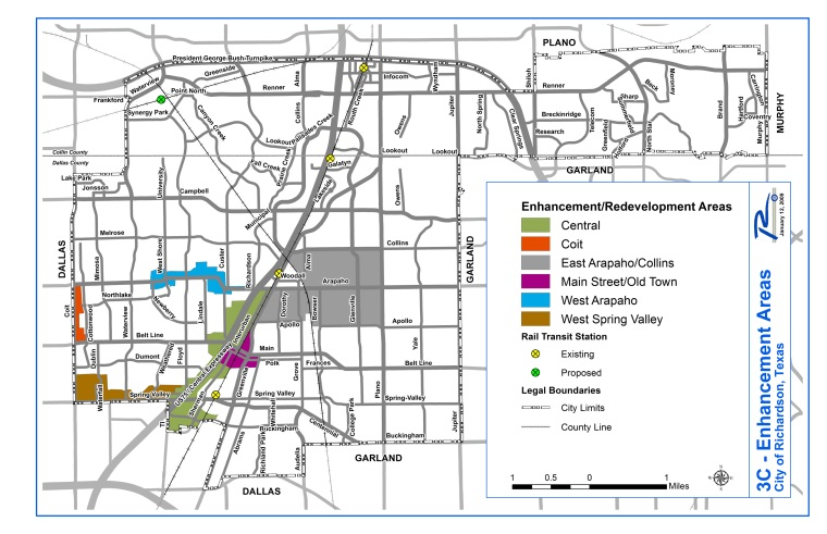 COR Redevelopment Study Areas