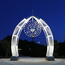 Photo of public art at Heights Recreation Center