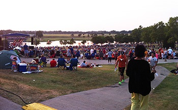 Photo of crowd waiting for fireworks